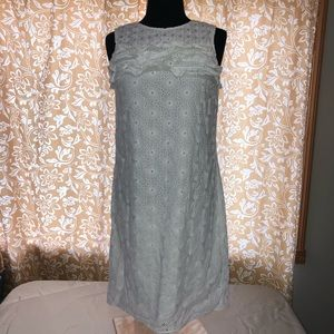 BROOKS BROTHERS red Fleece white eyelet lace dress